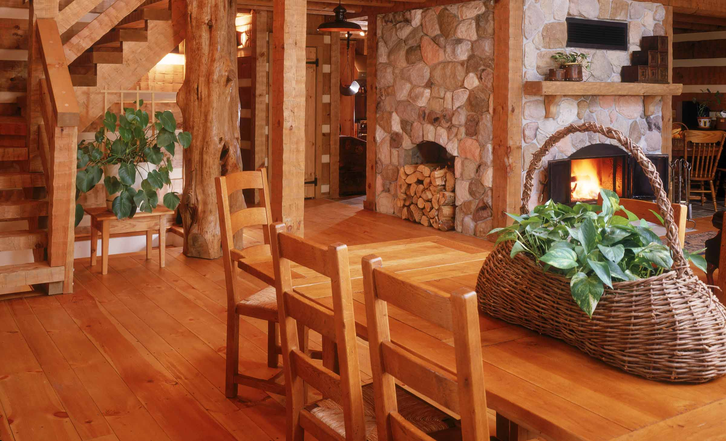White Pine And Log Cabins Are A Perfect Match   These Floors Were Done By  Timberknee